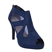 f4819b73d Ladies  039  Platform Peep Toe Thin Heel Sandals - Blue