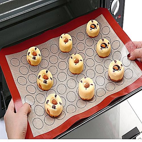 Jummoon Shop 60X40cm Non-Stick Sticky Mat Food Grade Silicone Glass Fiber Mat Baking Mat
