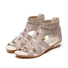 e5c8ff31815 Spring Summer Women Wedge Sandals Fish Mouth Hollow Roma Shoes