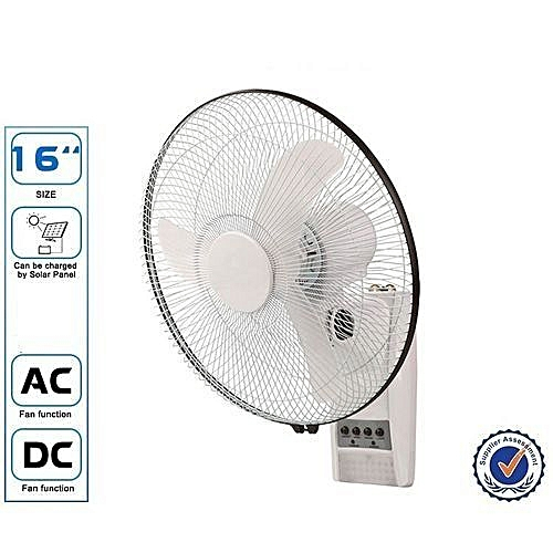 Rechargeable 16'' Wall Fan With Remote Control