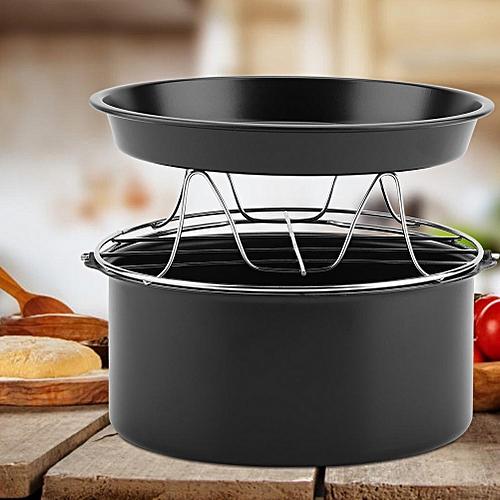 3 In 1 Multifunctional Air Fryer Accessories Set Kit Parts Bread Shelf Cake Barrel Pizza Pan