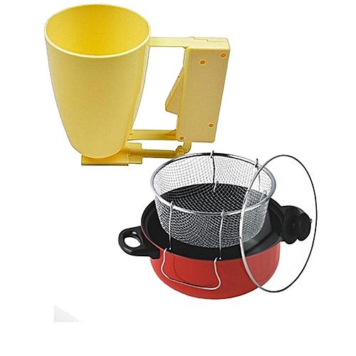 Manual Deep Fryer + Puff Puff Maker / Dispenser - Multicolour