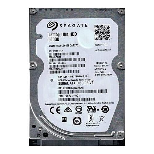 500GB Laptop Harddrive B