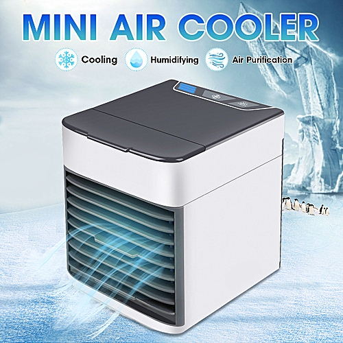 LED Air Cooler Portable Travel Mini Conditioner Fan