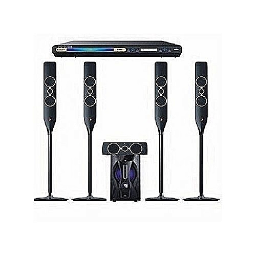 5.1ch Powerful Home Theatre System With Bluetooth Compatibility Dj-5050 + Powerful DVD Player