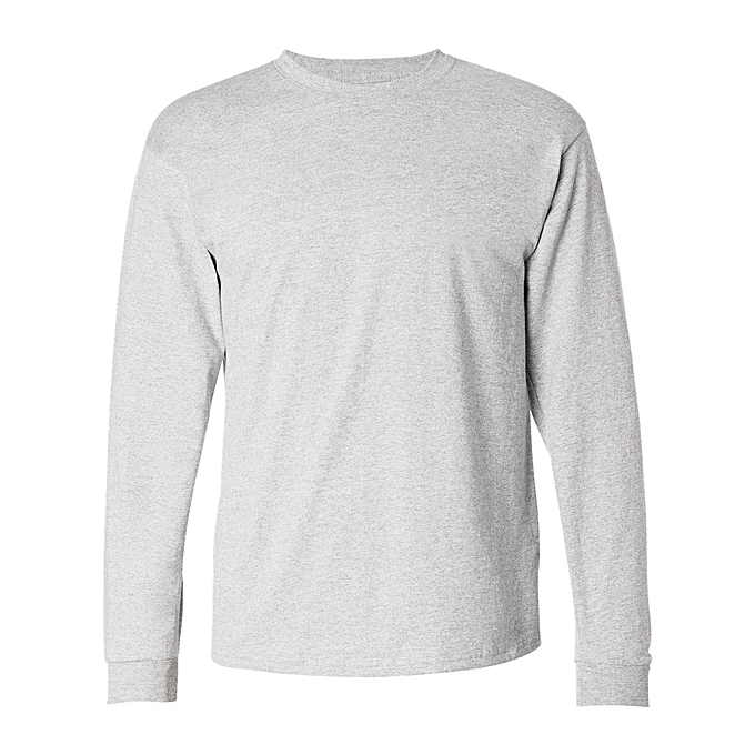 45eec62f05d Danami Plain Long Sleeve T Shirt- Light Grey