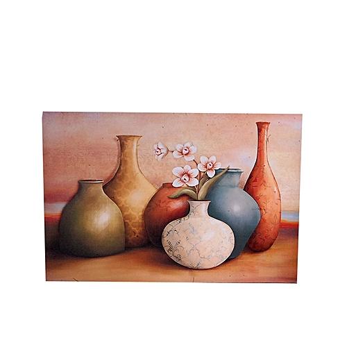Vista Vase Design Frameless Painting - 60 X 40cm