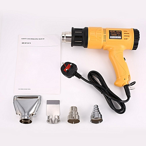 1800W Digital LCD Hot Air Heat Gun Temperature Stripper Soldering Tool Yellow UK