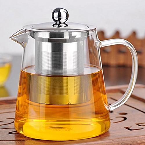 950ml Clear Glass Teapot Stainless Infuser & Lid Steeping Tea Flower Tea Pot