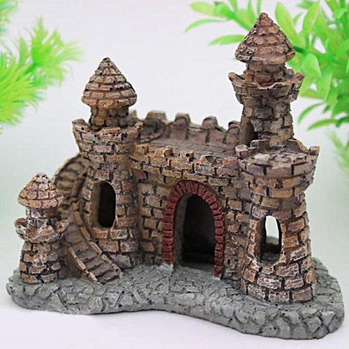 Hiamok_Cartoon Resin Castle Aquariums Castle Decoration Aquarium Fish Tank Tower