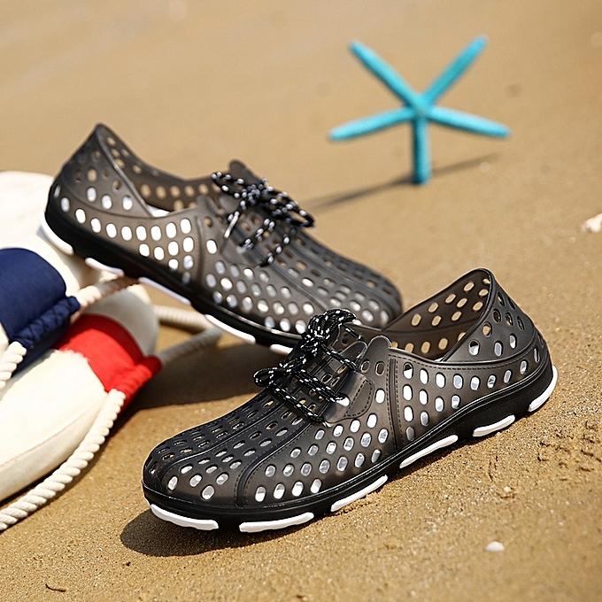 a085f0819e81a Summer Couple Beach Sandals Men Outdoor Garden Shoes Casual Unisex Slippers  Water Shoes Beach Flip Flops