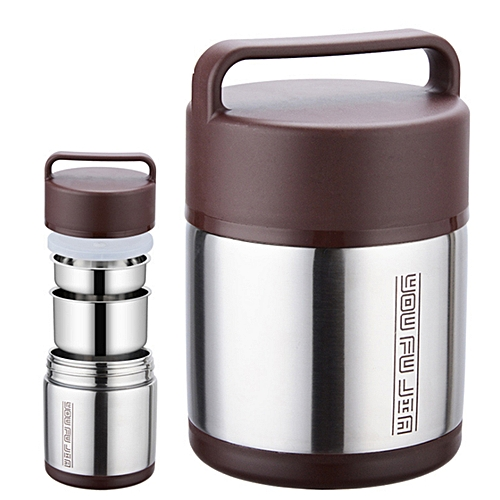 Vacuum Insulated Stainless Steel Lunch Box Thermos Warm Food Container Bento US