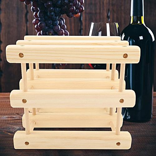 Solid Wooden Wine Rack Bottle Holder Stand Home Bar Decor DIY Accessories