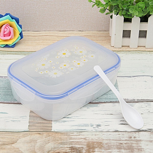 3PCS High Capacity Dinnerware Sets PP Bento Lunch Box Food Container Handle Singel Layer Lunch Box