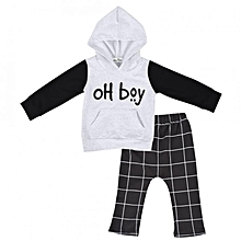 fdfddb8a98fb Children Two-piece Clothes Hooded Sweatshirt + Pants Spring & Autumn  Costume For Little