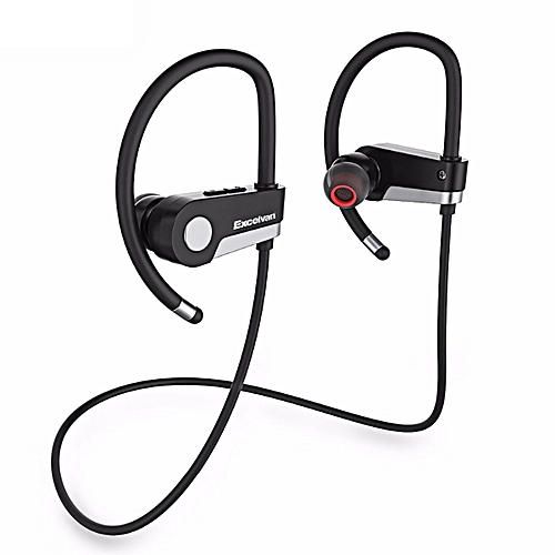 Excelvan C6 Wireless Stereo Earbuds Headset With Bluetooth & Microphone - Black / White