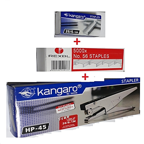 HP 45 Stapler(+Free Boxes Of 5000+1000 Staple Pins) - Silver