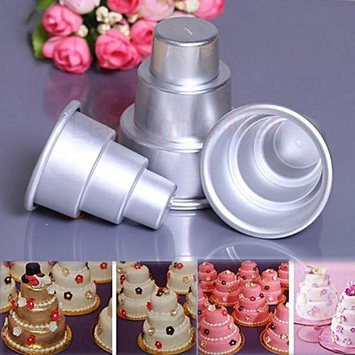 3 Sizes Mini 3-Tier Wedding Cake Tins Pudding Pan Baking Muffin Bakeware Mold#80X90mm