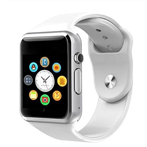 Smart Watch Phone With GSM GPRS Pedometer Tourchscreen Bluetooth Wristwatch White