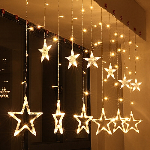 KCASA 2.5M 110-220V LED Star String Lights LED Fairy Light For Festival Christmas Curtain Decoration