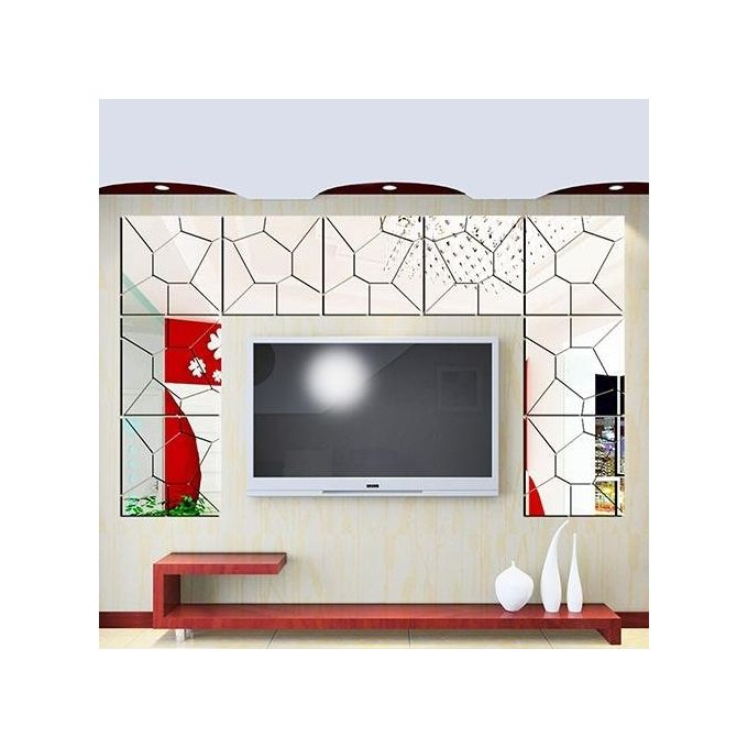 Bluelans diy 3d modern mirror decals art mural removable for Home decorations on jumia