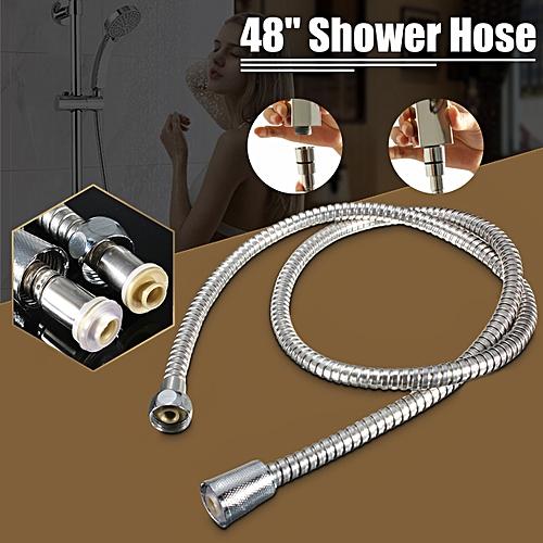 1.2m Stainless Steel Flexible Shower Water Hose Bathroom Flexible Head Pipe