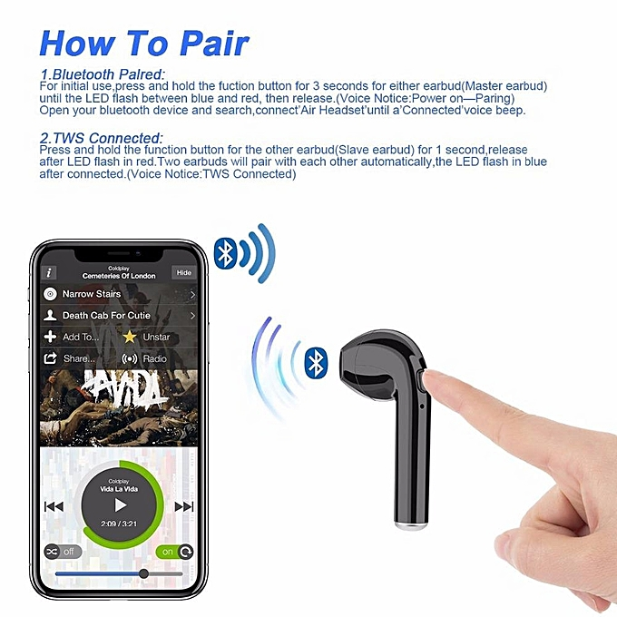 2e3cfa0dad4 ... Bluetooth Earbuds, Wireless Headphones Headsets Stereo In-Ear Earpieces Earphones  With Charging Box For ...
