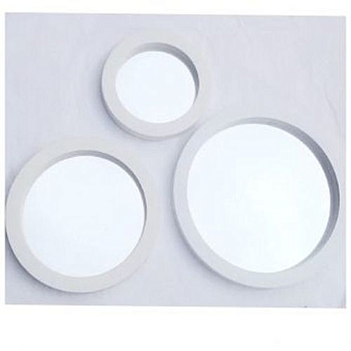 White 3-Piece Round Decorative Wall Mirror