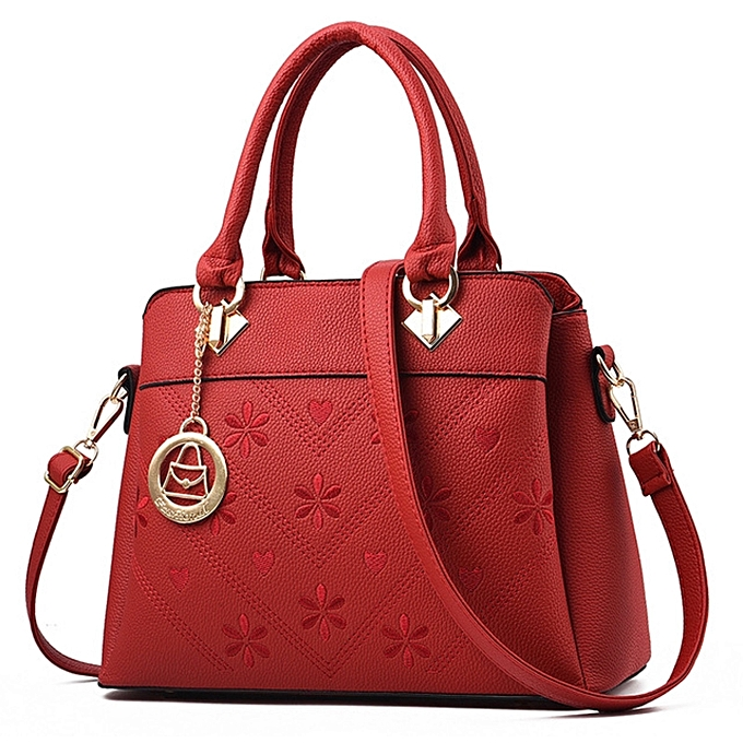 Fashion PU Leather Women Designer Lady Handbag - Red