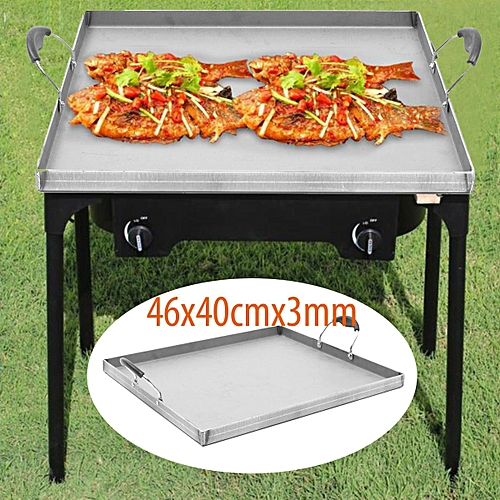 Heavy Duty SINGLE STOVE Stainless Steel Griddle Flat Top Plancha Pan Comal Cook