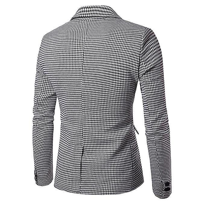 Blazers Jumia: Fashion Flap Pockets Houndstooth Casual Blazer