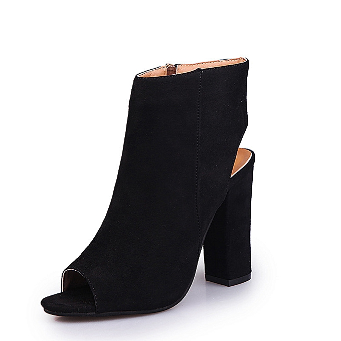 cffd15862 Fashion Women Platform High Block Heel Sandals Open Toe Ankle Boots ...