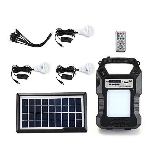 Solar Lighting System Portable Emergency Light Radio/Light/Music Player Camping