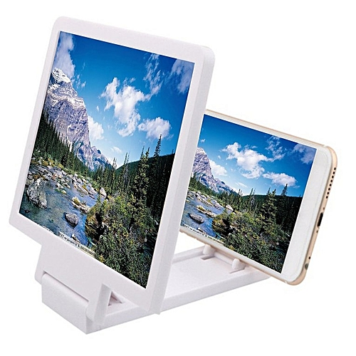 Mobile Phone Screen Magnifier Eyes Protection 3D Video Amplifier White