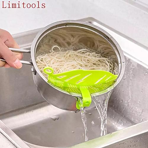 Kitchen Strainer Clip On Silicone Colander - Green