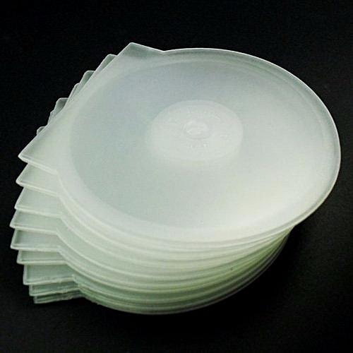 50 Pieces Transparent CD/DVD Clamshell Plastic Case