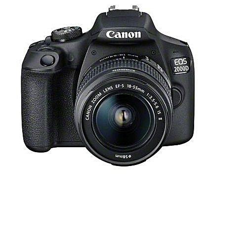 EOS 2000D DSLR Camera - Black 18 55 LENS + FREE 32GB MEMORY CARD