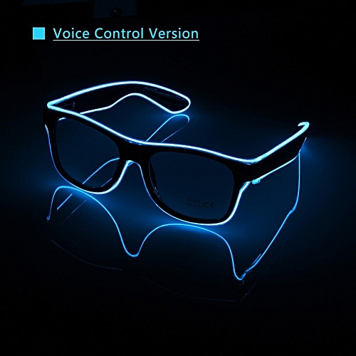 Upgraded Voice Control Flashing EL Wire Led Glasses CE Certified Luminous Party Decorative Lighting Bright LED Light Up Party