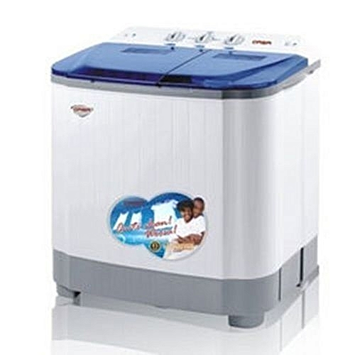 8.8kg Double Tub Semi-Automatic Washing Machine (5kg Wash, 3.8kg Spin)