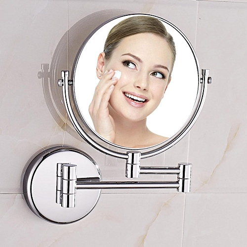"""Free Shipping 8"""" Dual Makeup Mirror 1:1 And 1:3 Magnifier Copper Cosmetic Bathroom Double Faced Bath Mirror,YT-9102-A"""