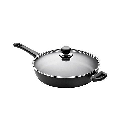 Jumbo Fry Pan With Glass Lid 34CM