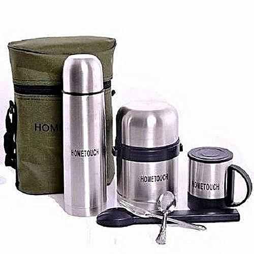 Children 5 In 1 Lunch Pack Food Flask, Water Flask, Mug & Cutlerries Set - {BagPack}