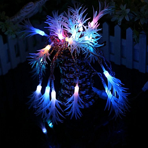 KCASA CSL-6 Gardening 10M 38LED String Light Seaweed Shape Holiday Garden Party Wedding Decoration