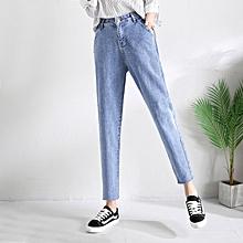 b47a43c6f92e9 Retro Slim Denim Trousers High Waist Boyfriend Jeans Women