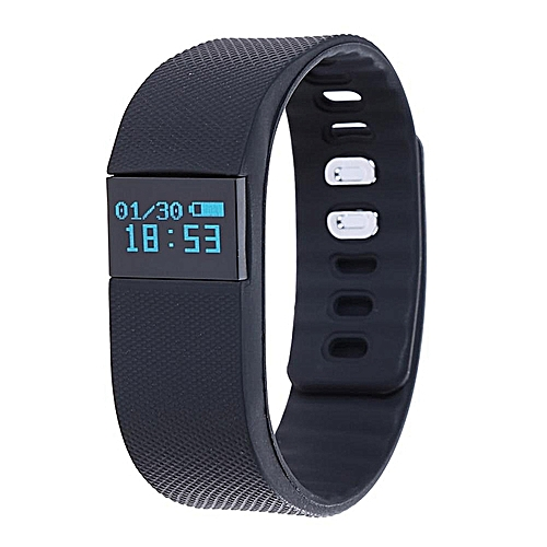 TW64 Bluetooth Smart Wristband Pedometer Health Monitor (Black)