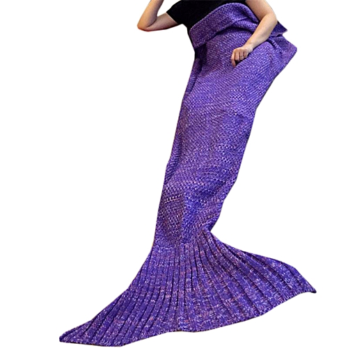 Solid Knitted Fishtail Blanket