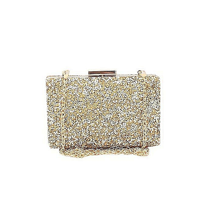 Fashion Gold Studded Ladies Clutch Purse
