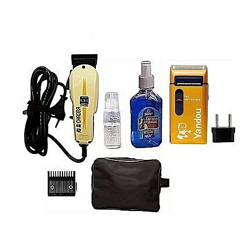 Hair Clipper With Bag, Aftershave And Rechargeable Shaver