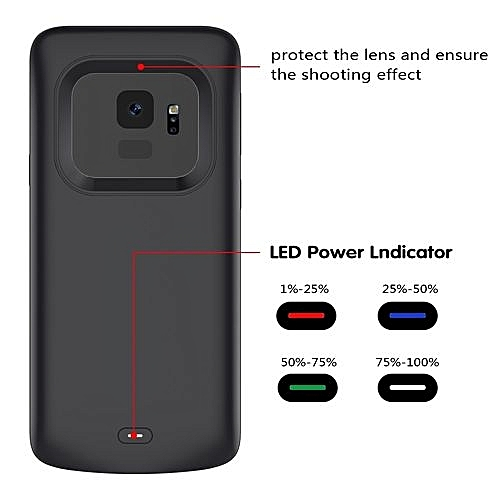 meet 9ef8e cc1c5 Samsung Galaxy S9 Battery Case, Ultra Slim 4700mAh Rechargeable Portable  External Battery Charger