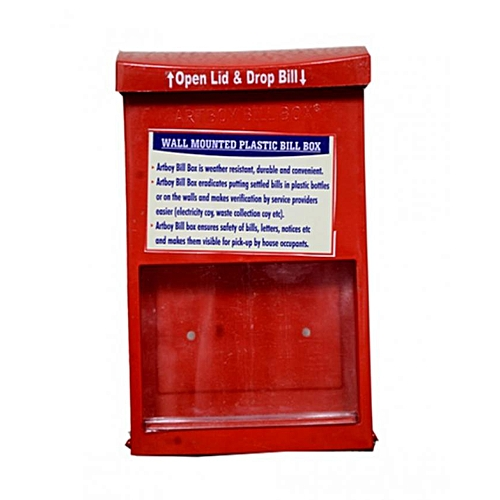 Wall Mounted Letter Box-Red